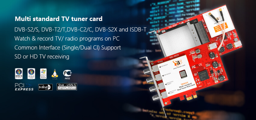 Multi standard TV tuner card