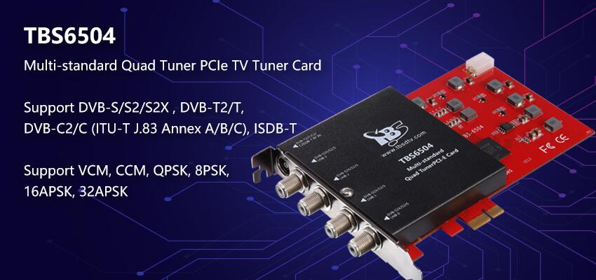 TBS6504 Multi Standard Quad Tuner PCI-e Card
