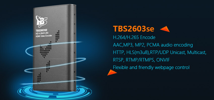 TBS2603se Professional HD H.265/H.264 HDMI Video Encoder