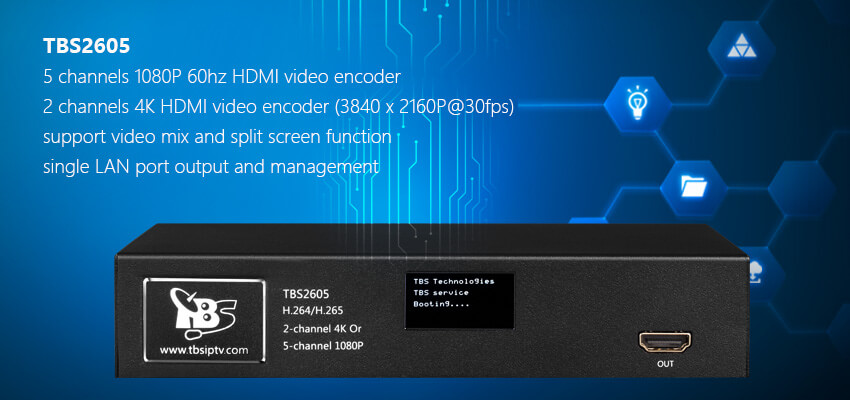 TBS2605 2 channels 4K/5 Channels 1080P 60hz HDMI Video Encoder