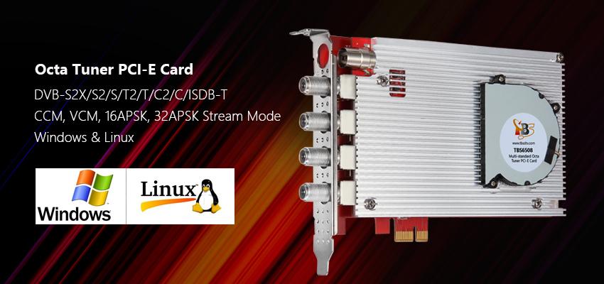 TBS6508 Multi Standard Octa Tuner PCI-E Card