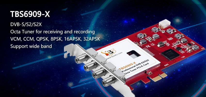 TBS6909-X DVB-S/S2/S2X Octa Tuner PCIe Card
