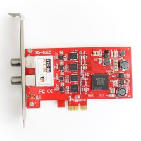 TBS6205 DVB-T2/T/C Quad TV Tuner PCIe Card