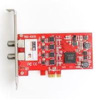 TBS6205 DVB-T2/T/C Quad TV Tuner PCIe Card