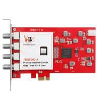 TBS6909-X V2 DVB-S2X/S2/S Octa Tuner PCIe Card Compatible with Tvheadend